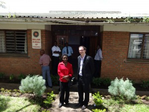Axel Mangelsdorf in front of Malawi Bureau of Standards