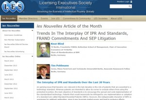 Blind and Pohlmann publish LES Article of the Month